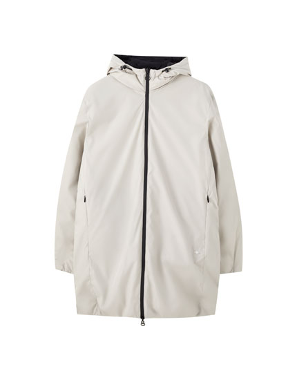 Reversible hooded puffer jacket