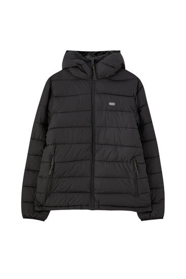 Recycled fabric puffer jacket
