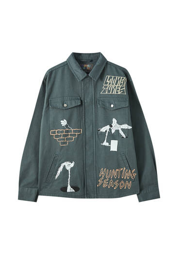 Looney Tunes x Evan Rossell denim jacket