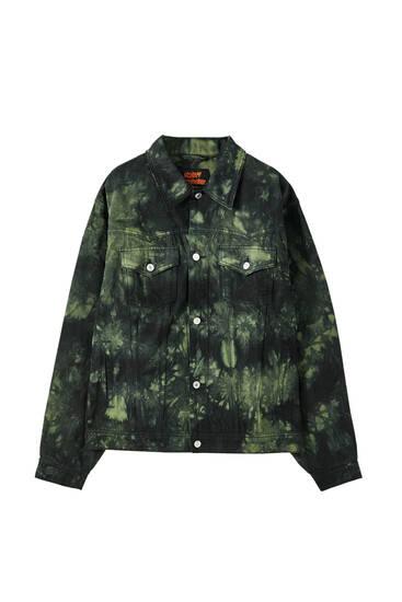 Зеленая куртка Sicko19 Sickonineteen с принтом тай-дай