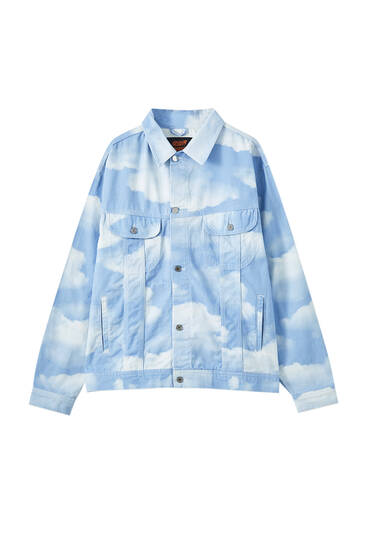 Sicko19 Sickonineteen cloud print denim jacket