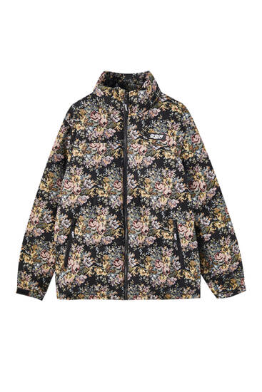 Floral jacquard Sicko19 Sickonineteen puffer jacket