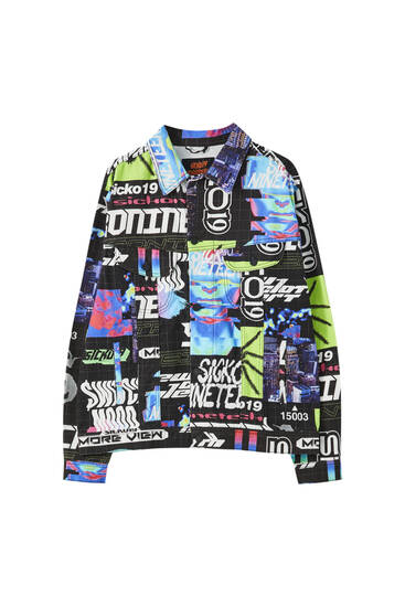 Sicko19 Sickonineteen jacket with an all-over print
