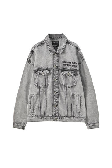 Denim jacket with illustration