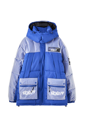 Sicko19 Sickonineteen Scotchgard 3M puffer jacket with PVC details
