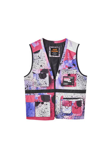 Sicko19 Sickonineteen Scotchgard 3M gilet with spray print