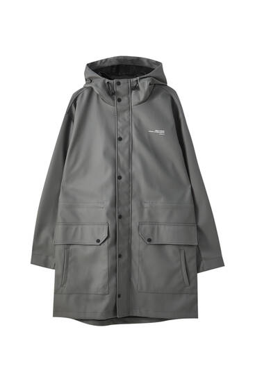 Oversize waterproof technical parka