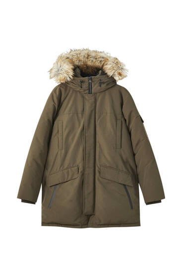 Water-repellent premium parka