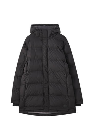 Water-repellent puffer coat