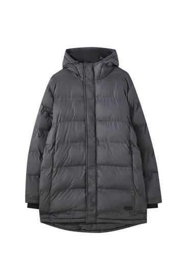 Basic vatteret frakke med hætte
