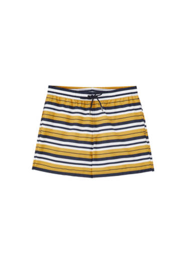 Horizontal stripe print swimming trunks