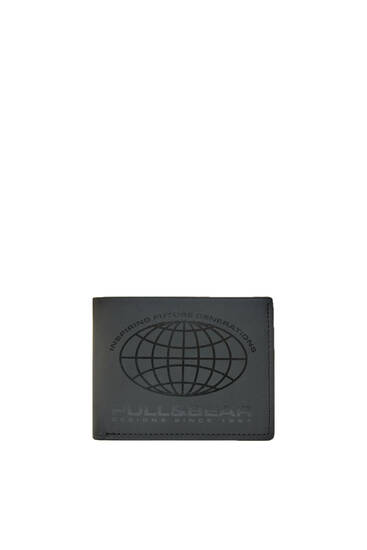 Neoprene world logo wallet