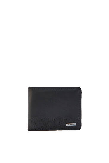 Black wallet with geometric details