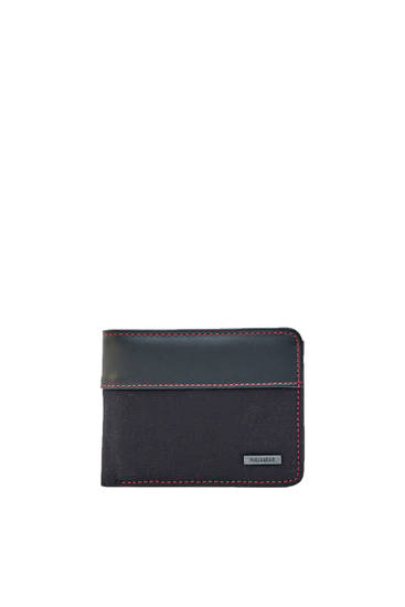 Wallet with red stitching