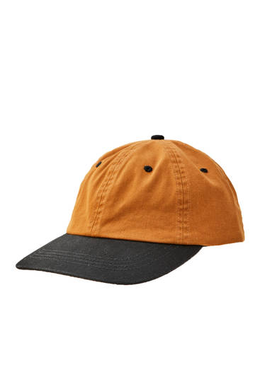 Contrast brown cap