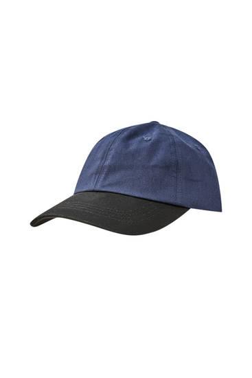 Kontrasterende blå kasket