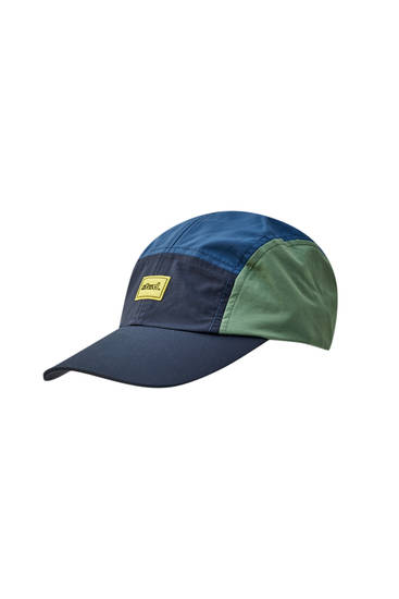 Contrast colour block technical cap