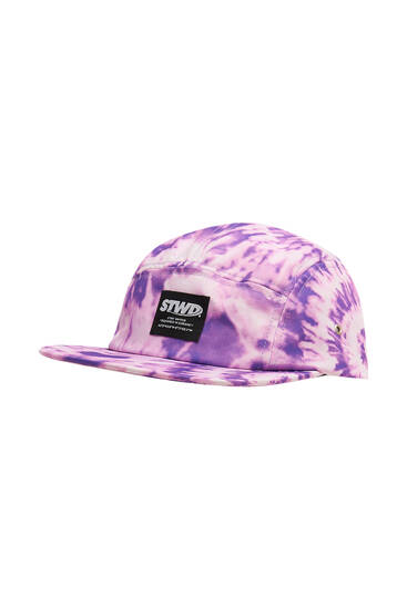 Violettes Basecap STWD mit Tie-dye