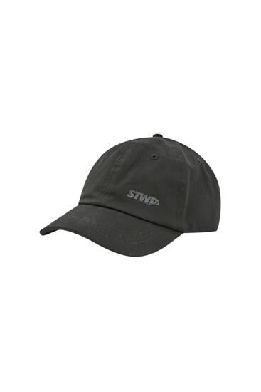 Schwarzes Basecap mit STWD-Logo