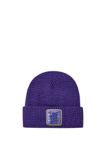 Reflekterende, violet beanie-hue – Sicko19 Sickonineteen