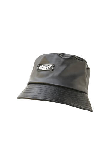 Sicko19 Sickonineteen faux leather bucket hat