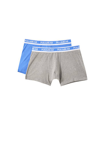 2-Pack of blue boxers