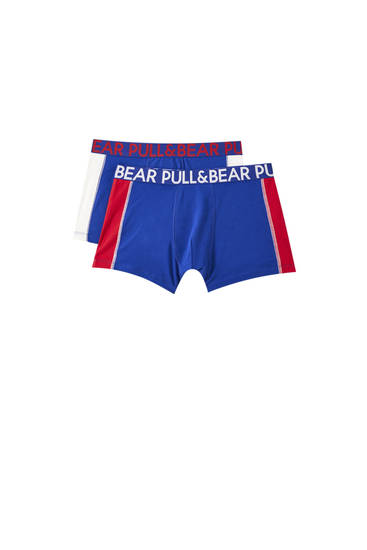 Two-pack of contrasting blue boxers