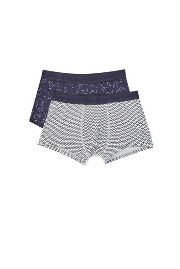 Pack of 2 boxers with constellation print