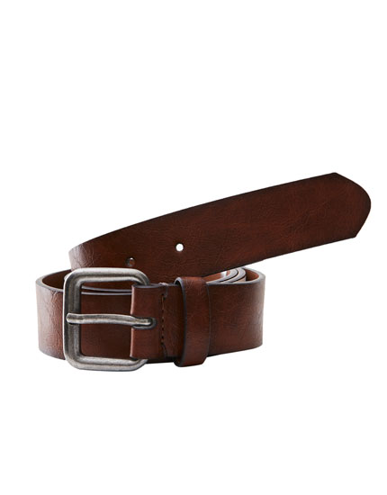 Ombré faux leather belt