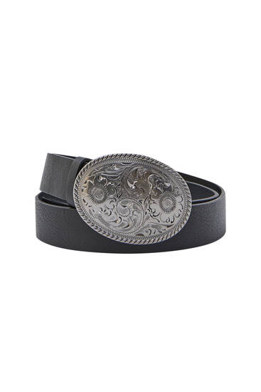 Black belt with Cowboy buckle