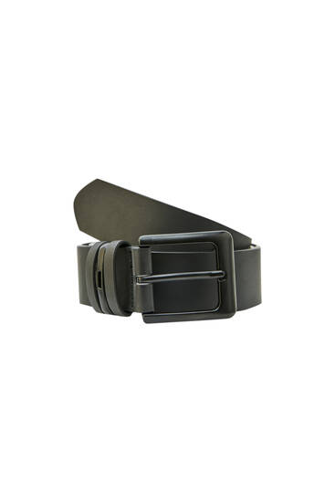 Black belt with buckle