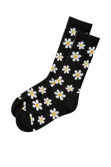 Daisy print socks