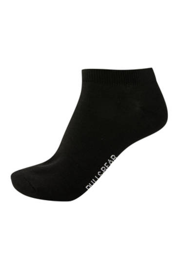 5-pack of black no-show socks