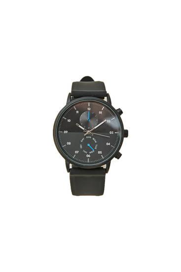 Чорний двосторонній годинник