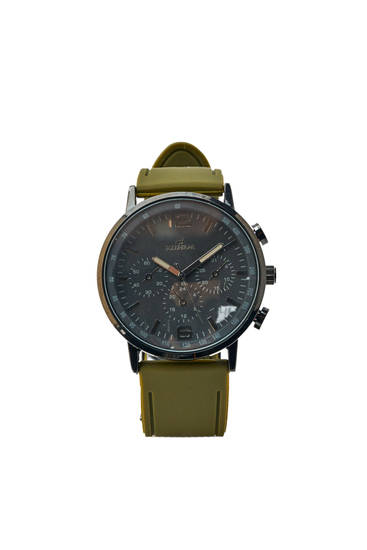 Green rubber watch