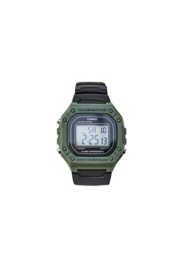 Green Casio W-218H-3AVEF digital watch