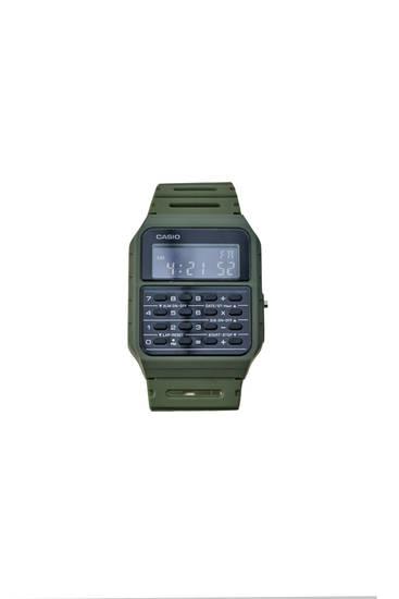 Green Casio CA-53WF-3BEF vintage watch