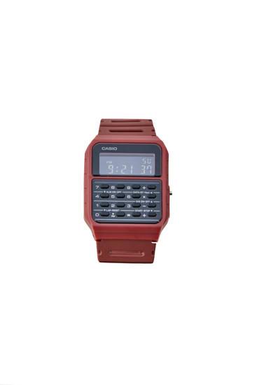Maroon Casio CA-53WF-4BEF vintage watch