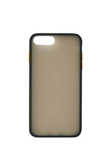 Black semi-sheer smartphone case