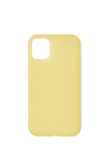 Yellow semi-sheer smartphone case