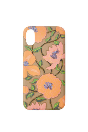 Watercolour floral print smartphone case