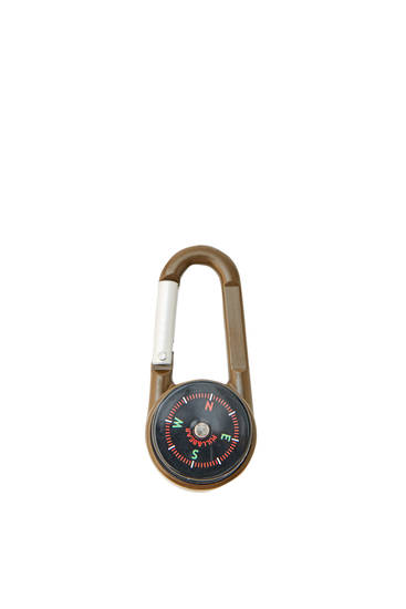 Carabiner compass key ring