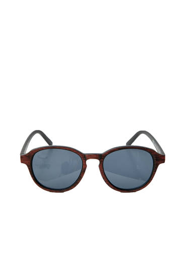 Wood-effect sunglasses