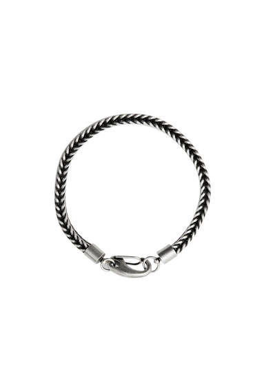 Braided metallic bracelet