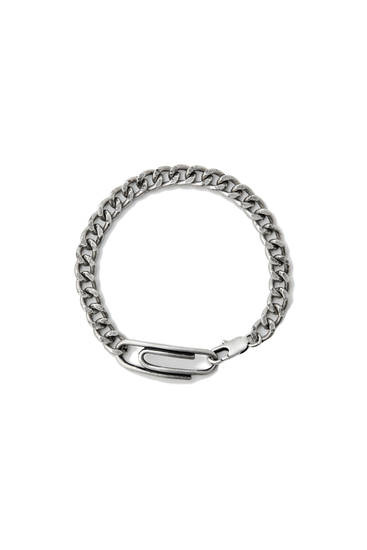 Silver-coloured clip bracelet