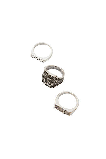 Pack of signet anchor rings