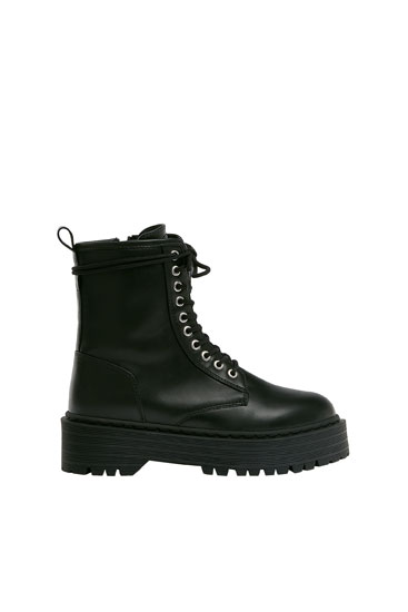 Chunky sole ankle boots