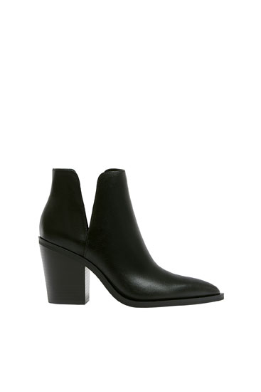 Cut-out detail ankle boots