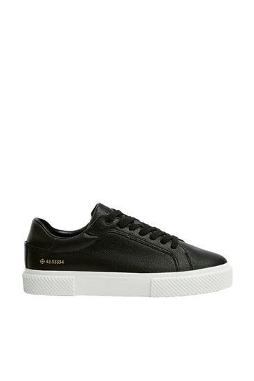 Black trainers with coordinates