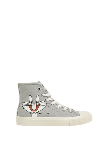Looney Tunes high-top trainers
